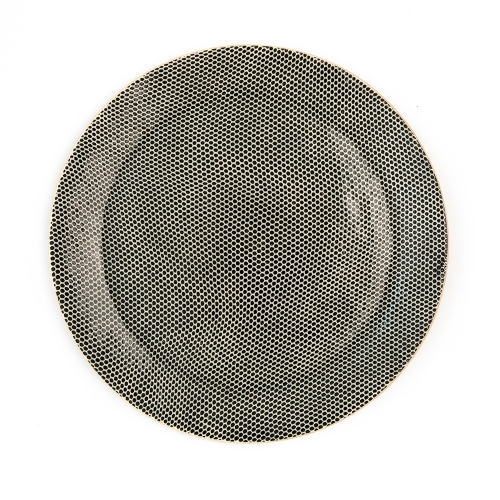Terrafirma Black Honeycomb Dinner Plate
