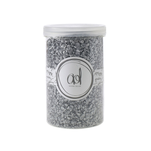 Crushed Glass Silver