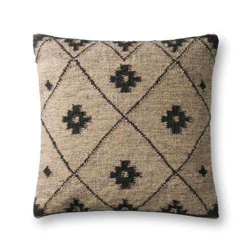 Black & Beige Diamond Pillow