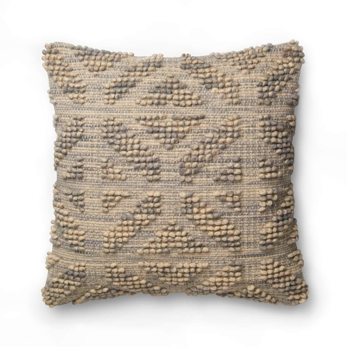 grey multi textural pillow