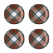 Juliska Stewart Tartan Cocktail Plates