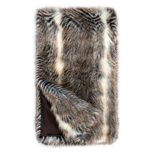 Fabulous Furs Limited Edition Faux Fur Throw Cross Fox