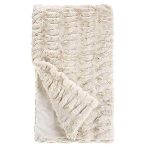 Fabulous Furs Couture Faux Fur Throw Ivory Mink
