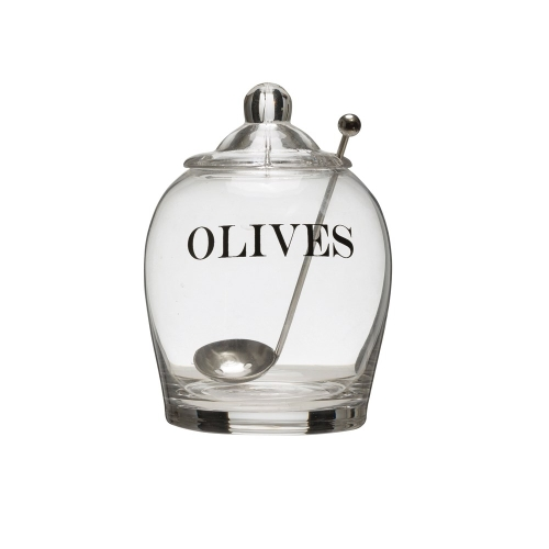 Olive Jar with Spoon