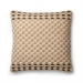 Ellen Degeneres Coffee Multi Woven Check Pillow