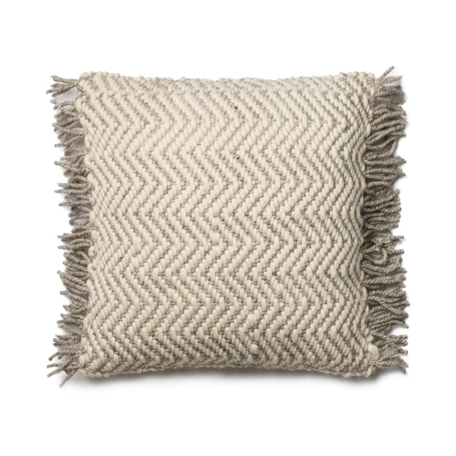 Magnolia Home Grey Ivory Zig Zag Pillow