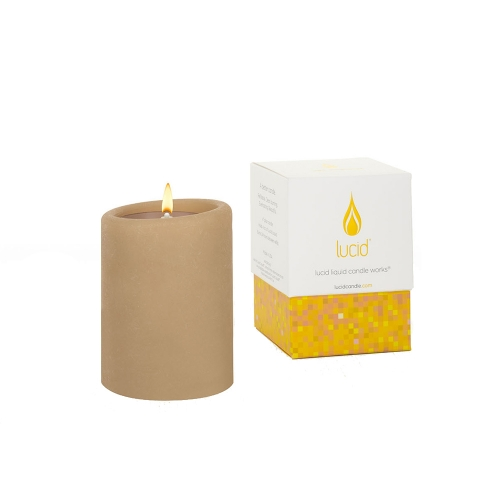 Lucid Khaki Pillar Candle