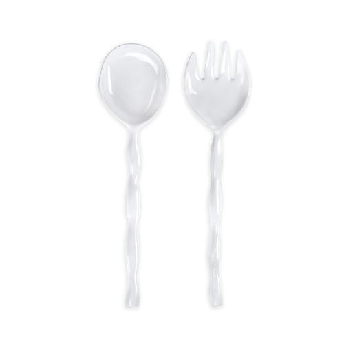 Q Squared White Melamine Serve Set