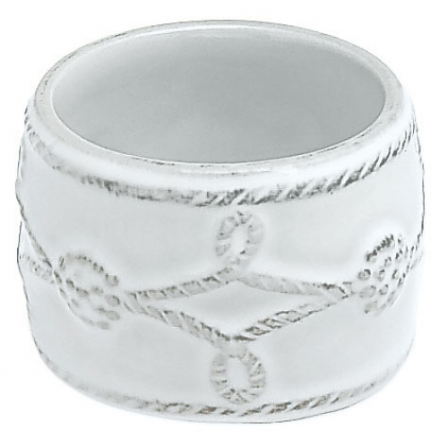 Juliska Berry and Thread Whitewashed Ceramic Napkin Ring